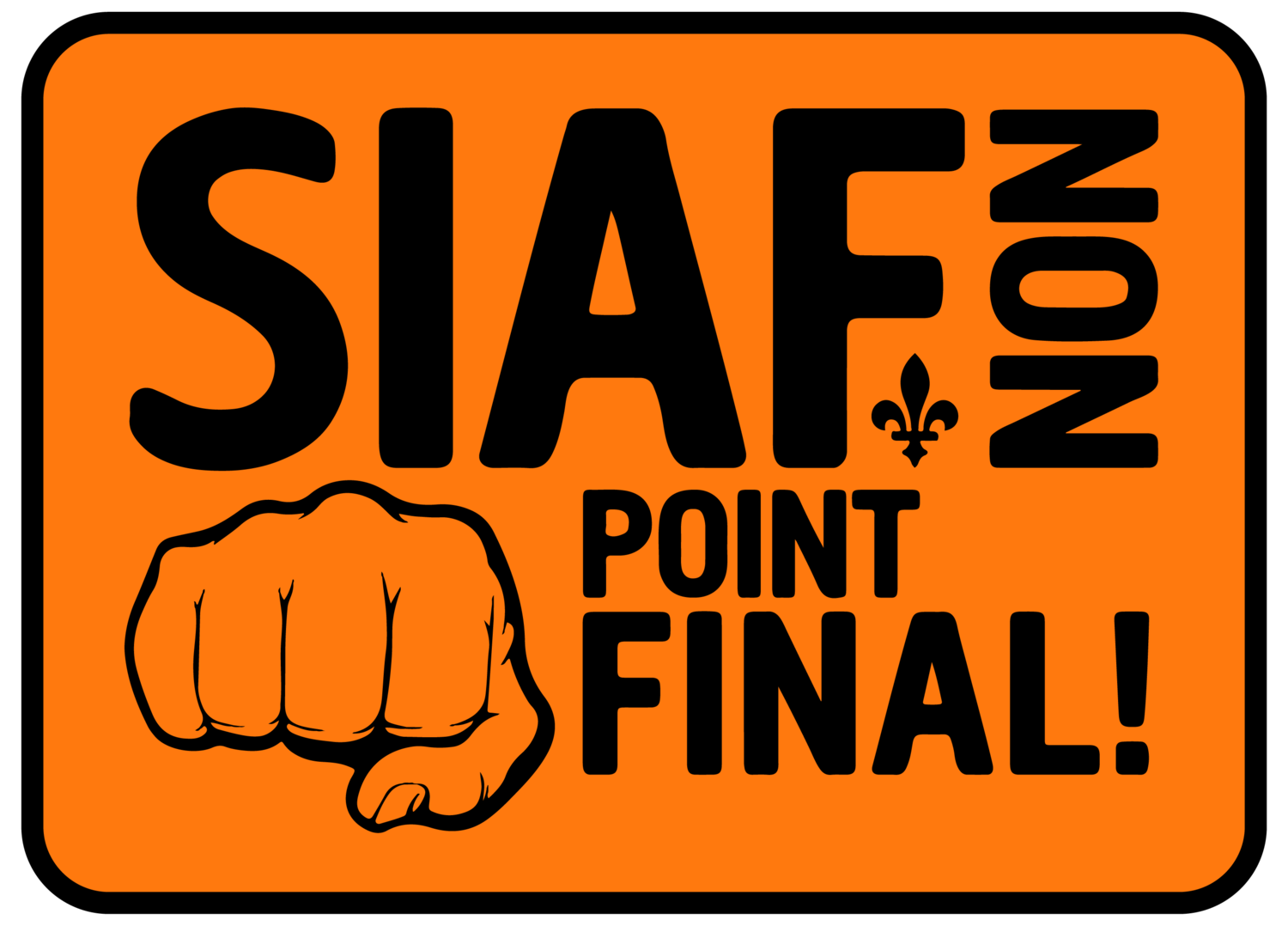 Autocollant - Point final !