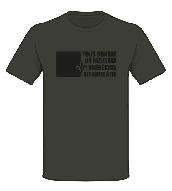 T-shirt - Vert militaire Liquidation petit et médium