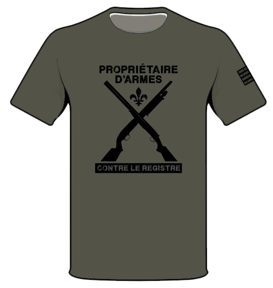 T-shirt - Vert militaire - Propriétaire...
