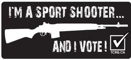 Autocollant - Je vote! - Anglais