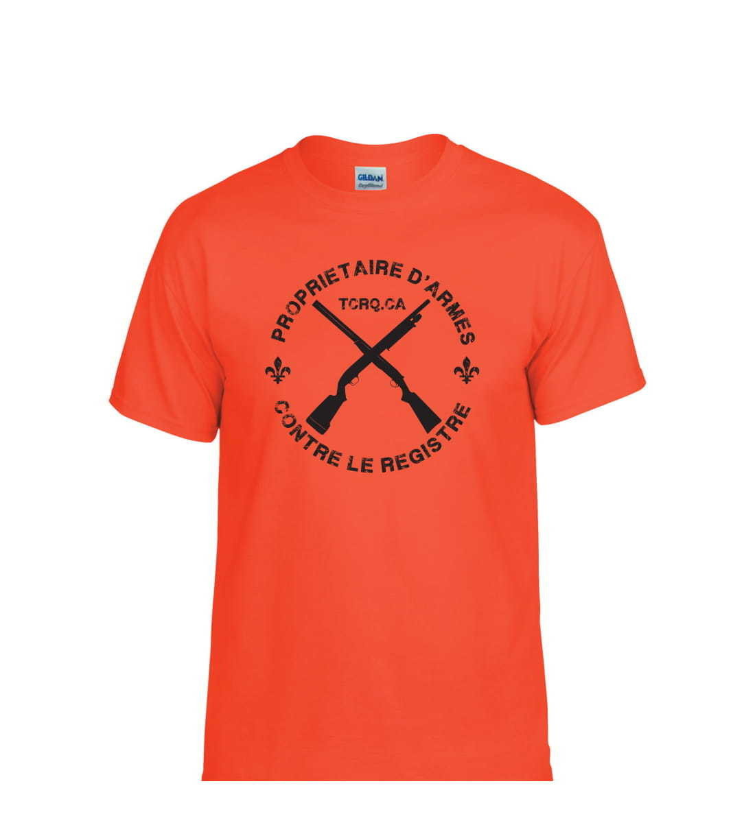 T-Shirt TCRQ orange - Pré-vente