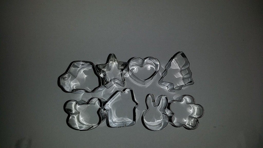 Mini Bunny, House, Car, Star, Heart, Xmas Tree, Flower & Bear Cookie Cutter set