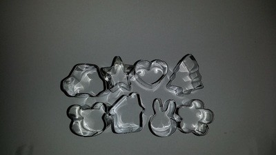 Mini Bunny, House, Car, Star, Heart, Xmas Tree, Flower & Bear Cookie Cutter set