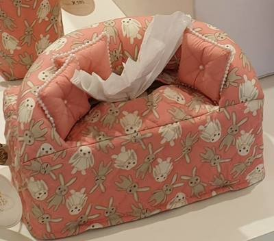 Sofa Style Bunny Pattern Tissue Box Cover