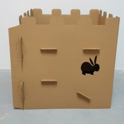 3 x SETS of Bunny Cardboard Castle PlayHouse