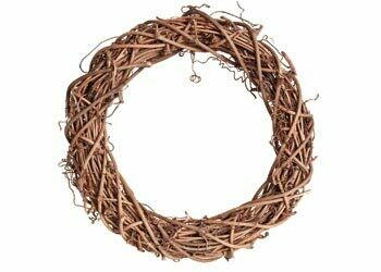 Natural Willow Wreath Ring + Option Seagrass Rope