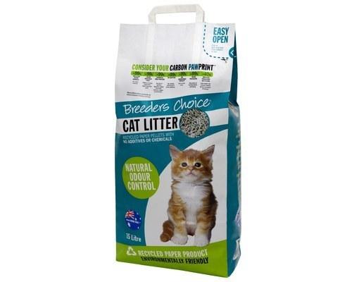 BREEDERS CHOICE CAT LITTER 15L (Paper Pellets)