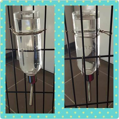 2 way use Thick Plastic Water Bottle with stainless steel ball 350ml