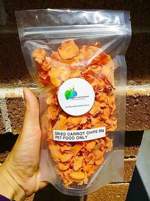 Dried Carrot Chips 50g (100% Australian)