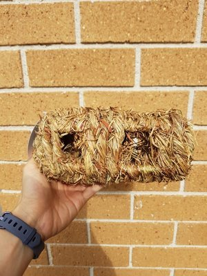 Natural Grass Woven Log