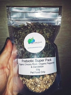 Prebiotic Super Pack 50g (Chicory Root, Peppermint & Dandelion)