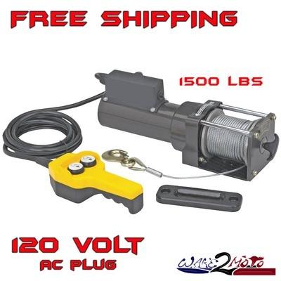 1500 LB Pound Electric Winch -  Lift Hoist 120V Garage Shop