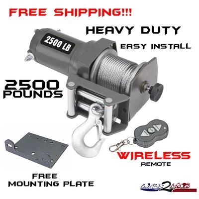 2500 Pound Winch -  ATV SxS SUV Truck Trailer