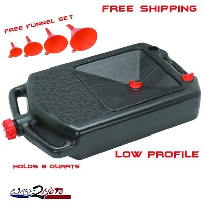Oil Drainer Change Storage Container Pan