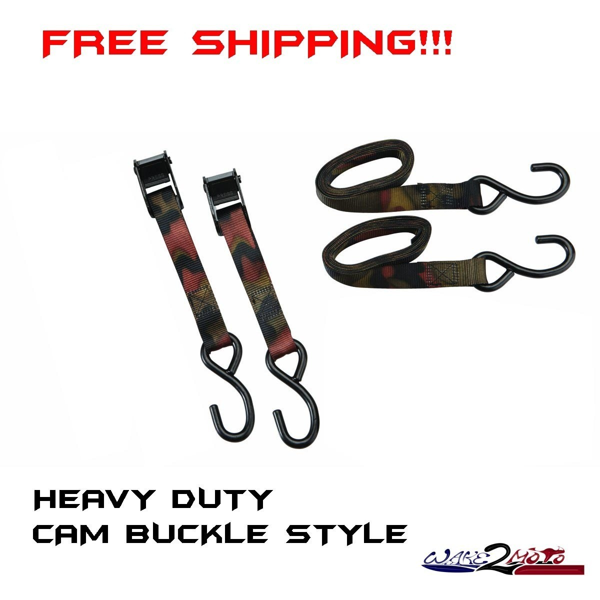 Two - Buckle Tie Down Camouflage Camo