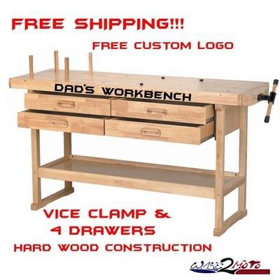 Hardwood Garage Workbench Work Table