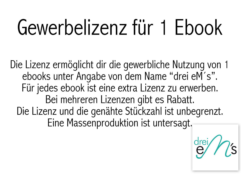 Gewerbelizenz Ebook NOEL, mini LEE und NICOLA- berechtigt zum ...