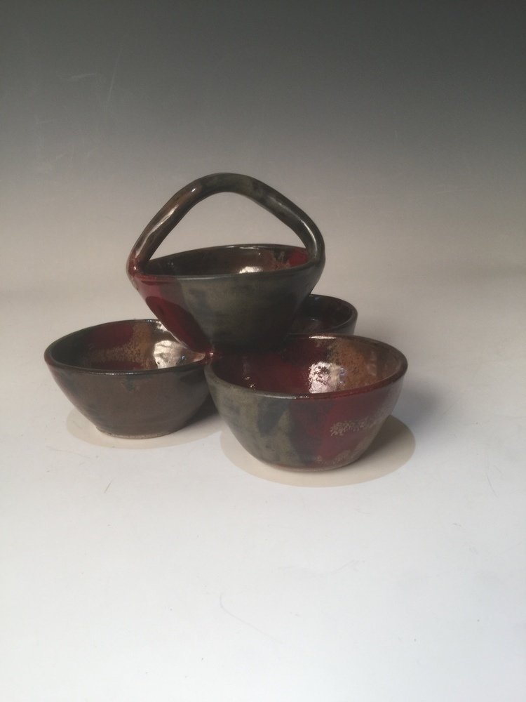 Condiment 4 Bowl/Lava