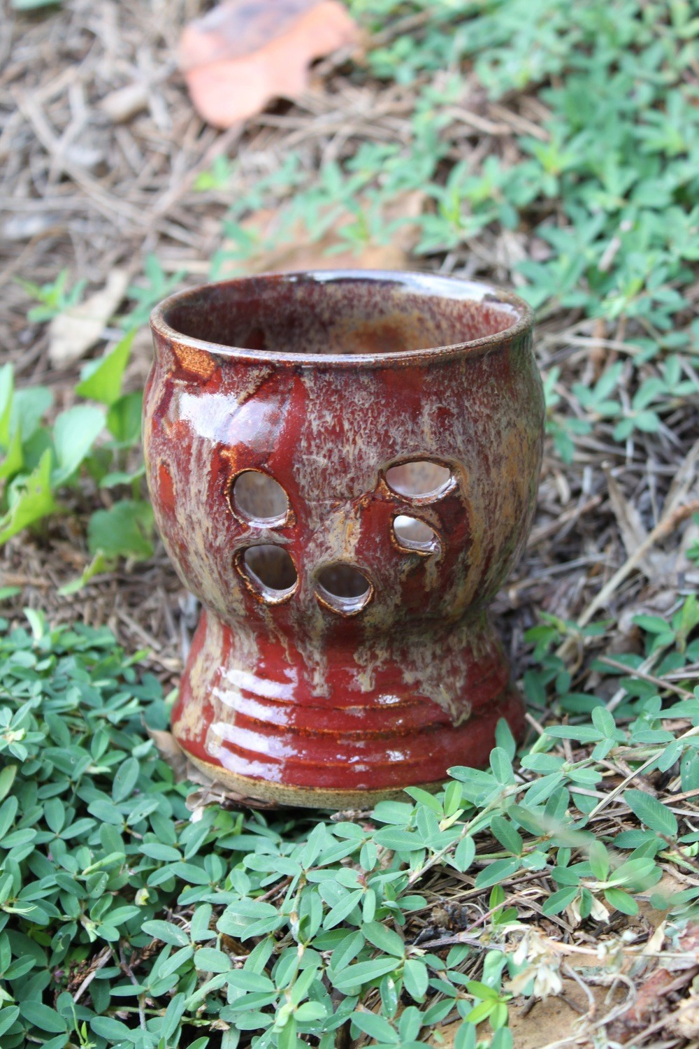 Candle Holder Votive Cherry/Ruby