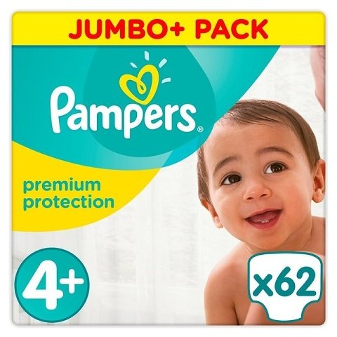 80228bc6cfb7 PAMPERS SIZE 4+ PREMIUM PROTECTION NAPPIES JUMBO PACK ...