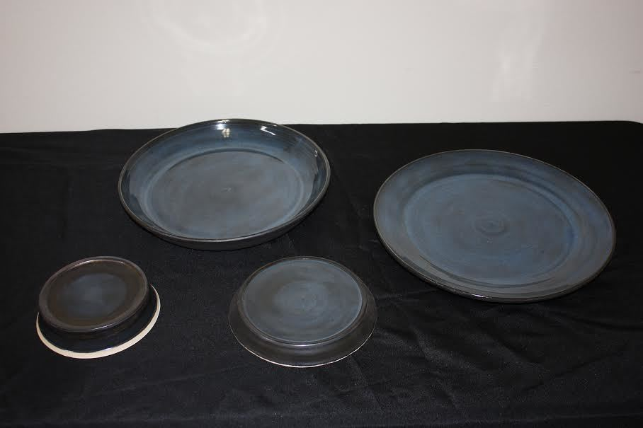Handmade Wheel Thrown Stoneware Communion Sets with Paten
