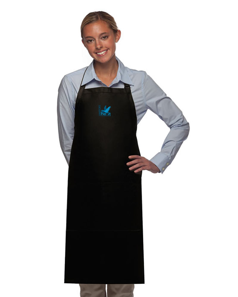 All-Purpose Apron Long Blue Logo Unisex