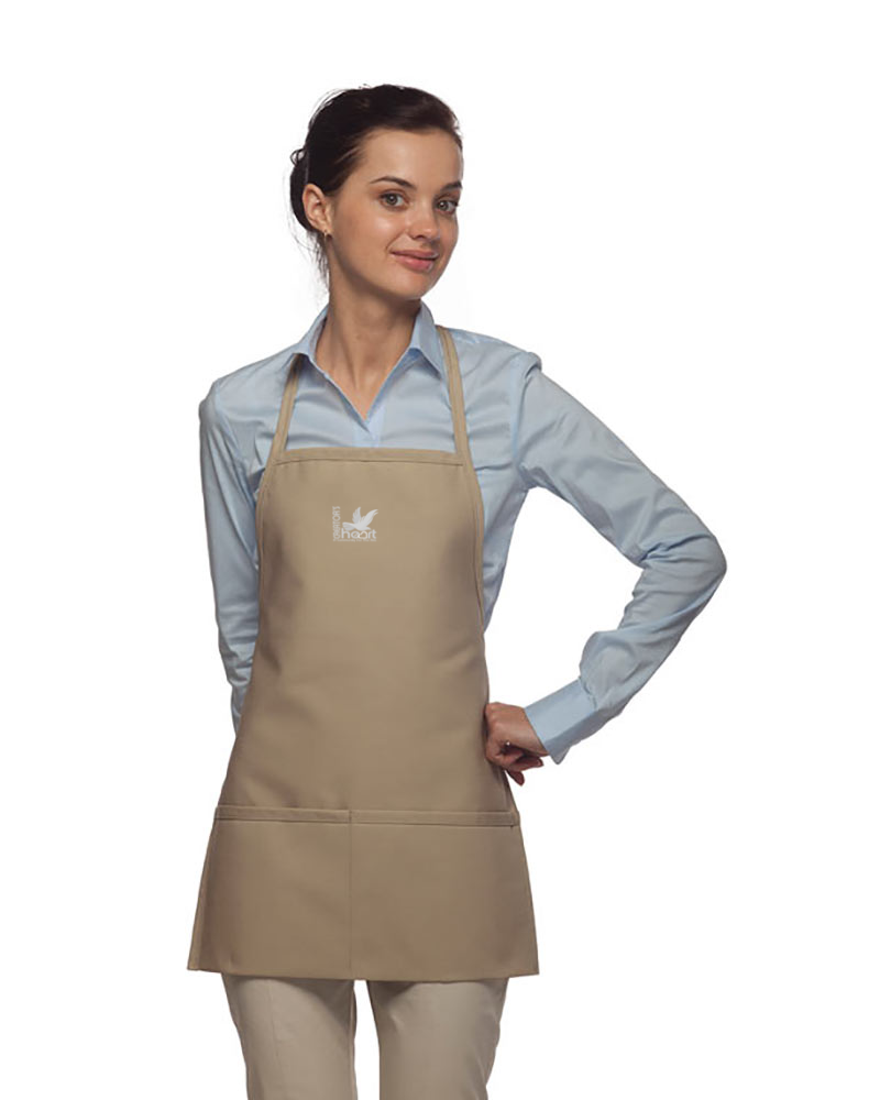 Two Pocket Bib Apron Unisex