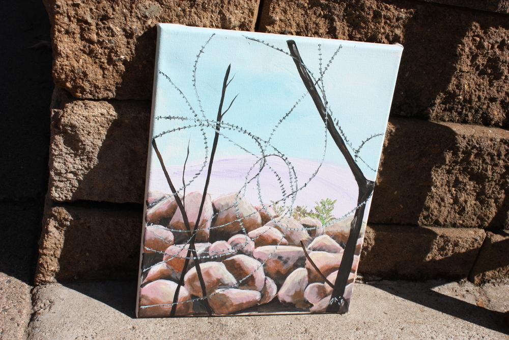 "11"" X 14"" Acrylic On Canvas Artist Priscilla Stilwell-Alexis ""Refuge"" Original"