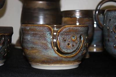 Handmade Wheel Thrown Stoneware Yarn Bowls