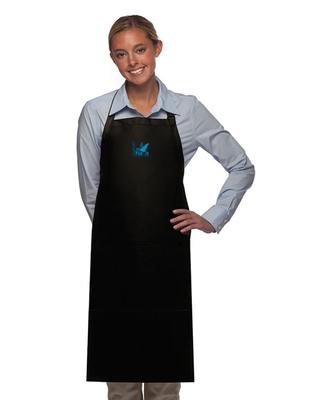 All-Purpose Apron Long Blue Logo Unisex