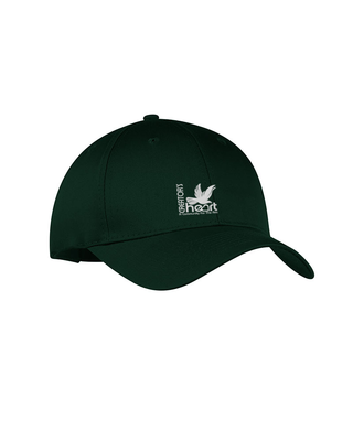 Six-Panel Structured Twill Cap Unisex One Size Fits All
