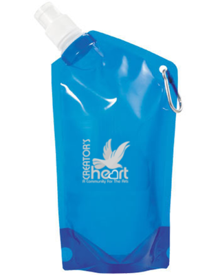 Collapsible Water Bag with Carabiner