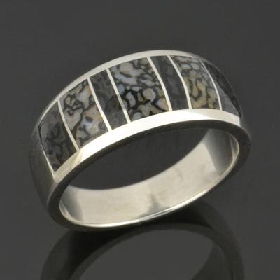 Dinosaur Bone Wedding Ring | Shop For Rings Dinosaur Bone Rings