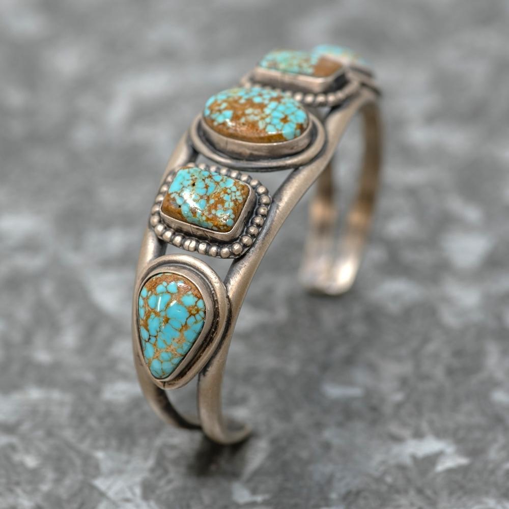 #8 Turquoise Bracelet by Martha Willeto JE190017
