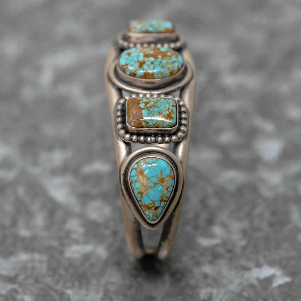 #8 Turquoise Bracelet by Martha Willeto - Side View Close
