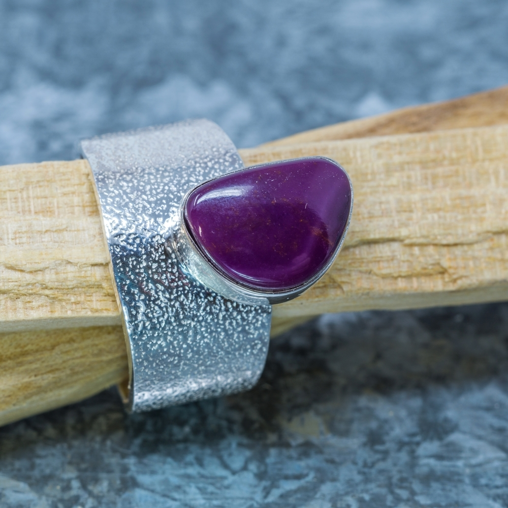 Sugilite and Sterling Ring by Marie Jackson JE190032