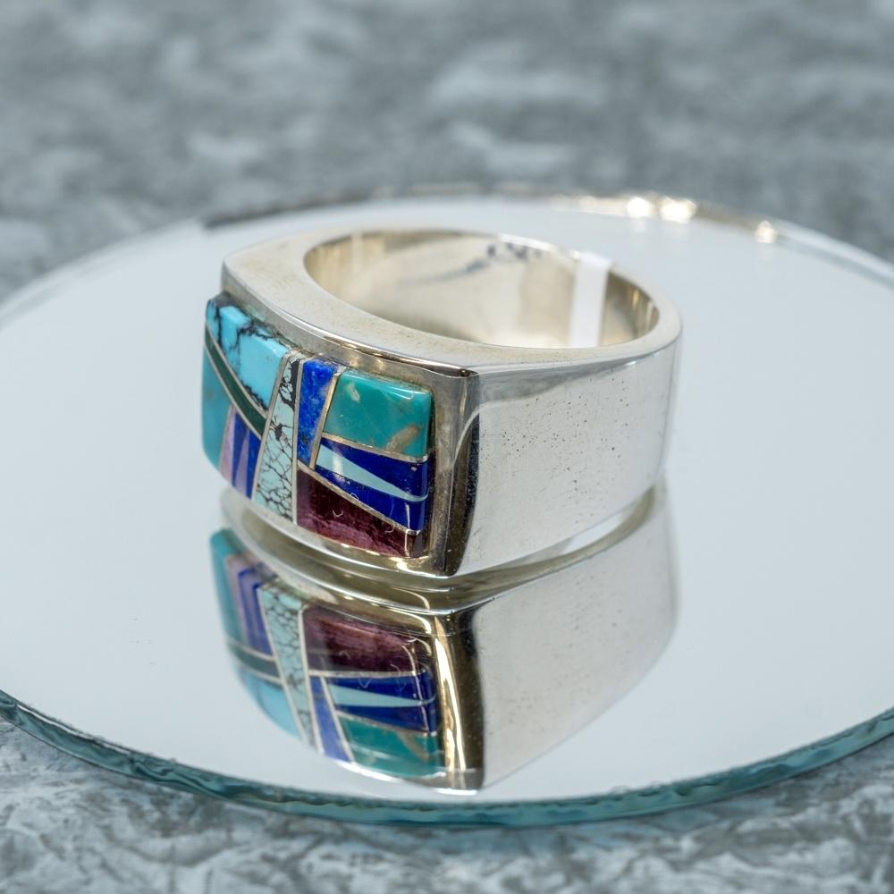 Multi-Stone Sterling Ring JE190046