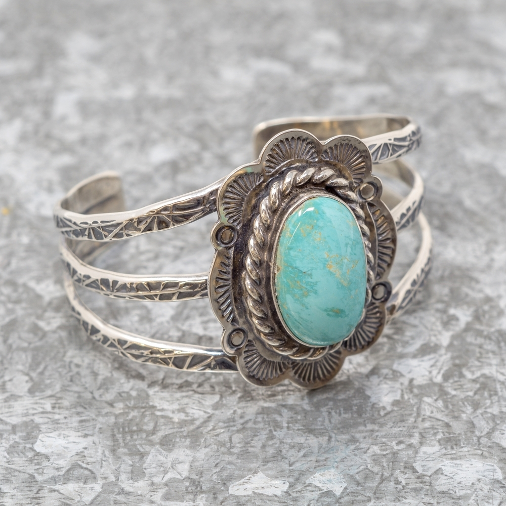 Evans Turquoise Bracelet by Travis R. Teller JE190051