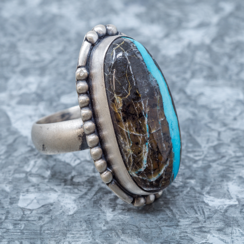 Blue Jay Turquoise Ring - Side View