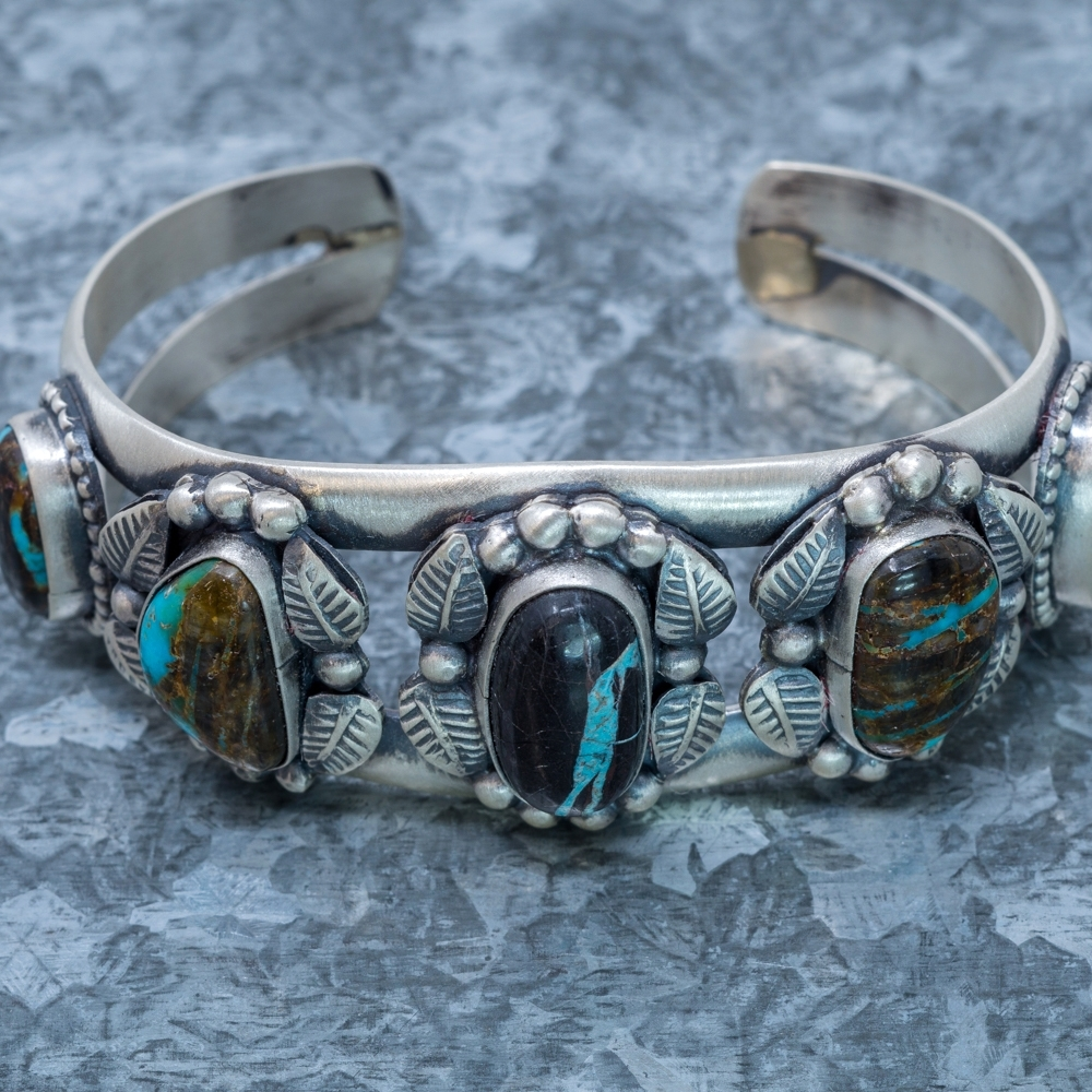 Blue Jay Turquoise Cuff Bracelet - front view