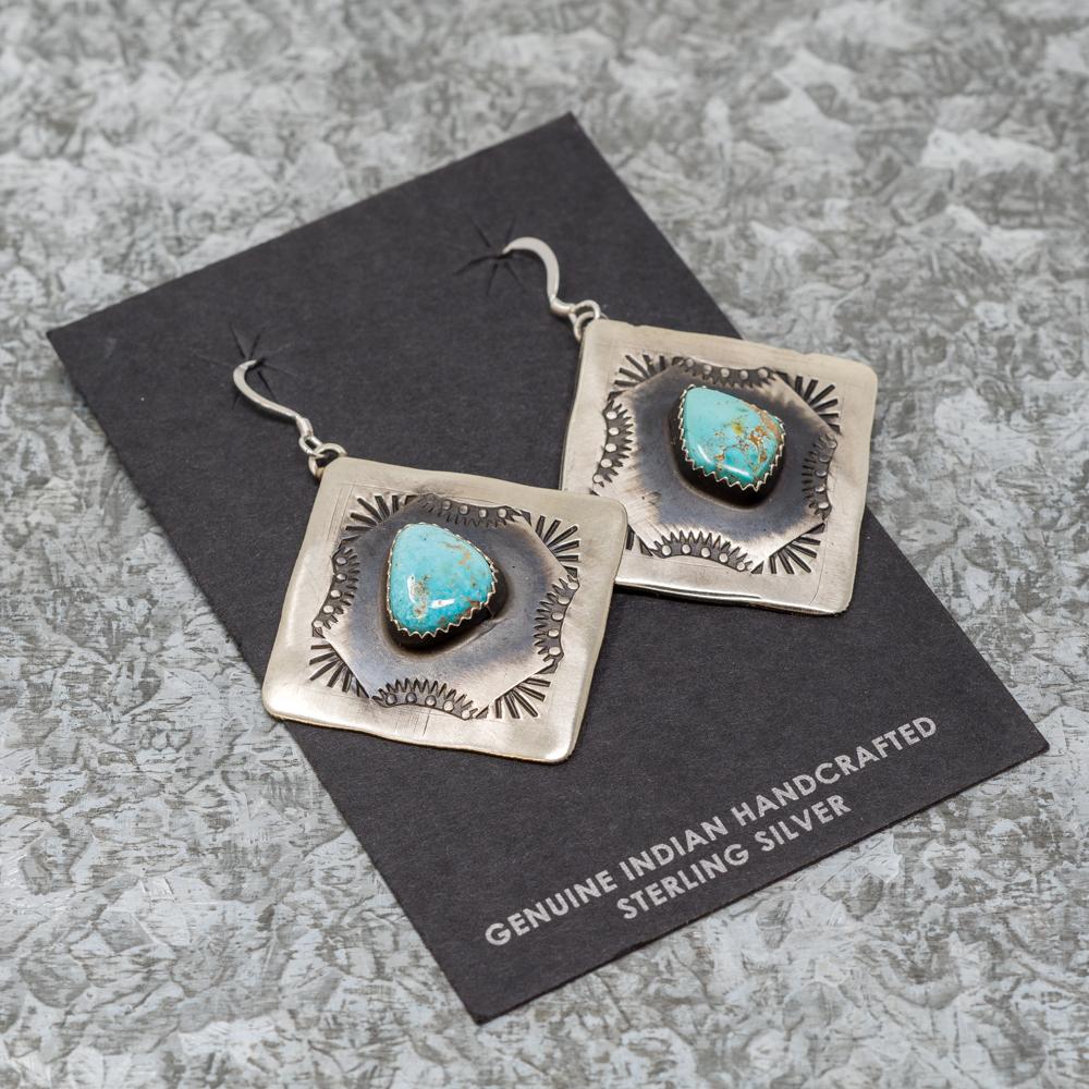 Sean Cayatineto Sterling Silver Turquoise Earrings JE190067