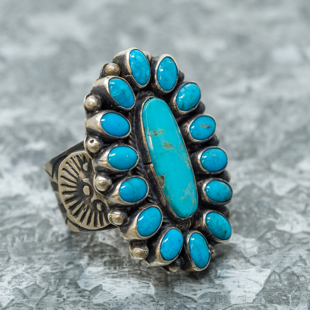 Kingman Turquoise Multi-Stone Ring JE190084