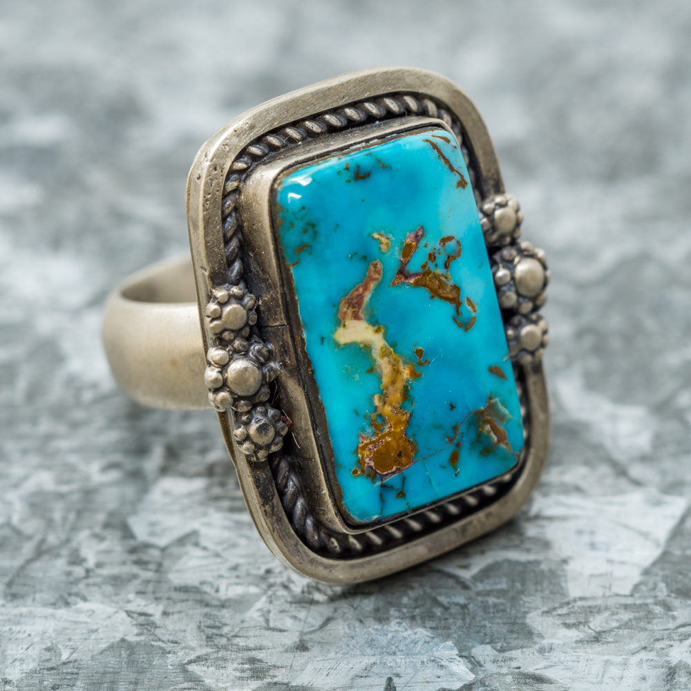 Pilot Mountain Turquoise Ring by Martha Willeto JE190087