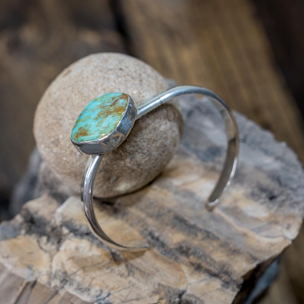 Offset Kingman Turquoise Bracelet by EM Teller