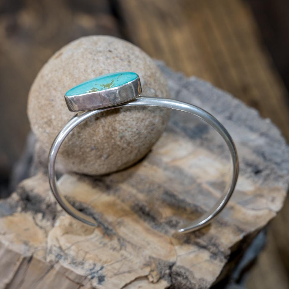Kingman Turquoise Offset Bracelet EM Teller
