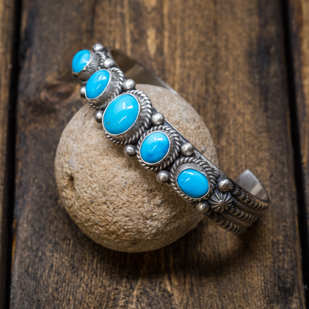Sleeping Beauty Turquoise Bracelet by Michael & Rosita Calladitto SB200001