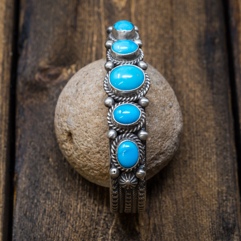 Sleeping Beauty Turquoise Bracelet by Michael & Rosita Calladitto