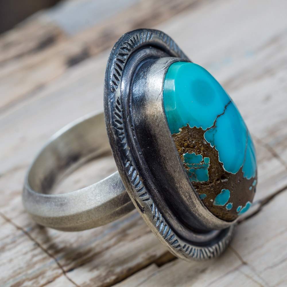Dragonfly Nevada Turquoise Ring