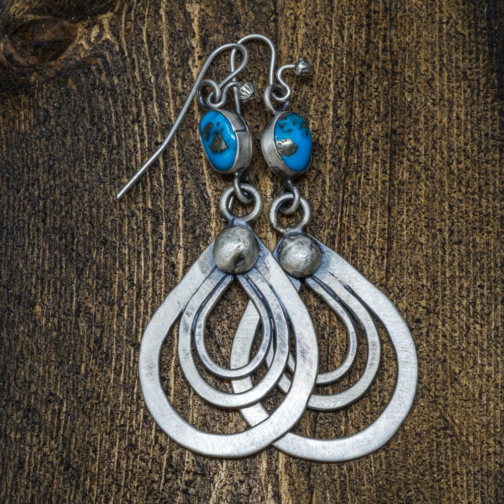 Sleeping Beauty Turquoise Earrings by Andrew Ruiz SB200005
