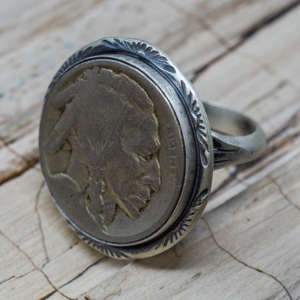US Nickel Ring by Martha Willeto JE200006